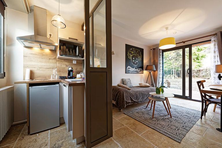 Appart'Hôtel à Autun vue d'un séjour